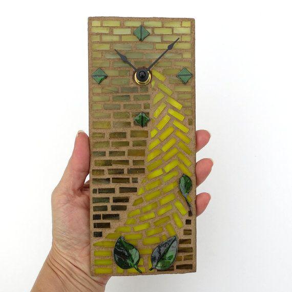 ... Home Décor, Clocks, Wall Clock, Glass Clock, Small Wall Clock, Stained  Glass Clock, Mosaicsmith, Unique, Kitchen Clock, Bathroom Clock, ...