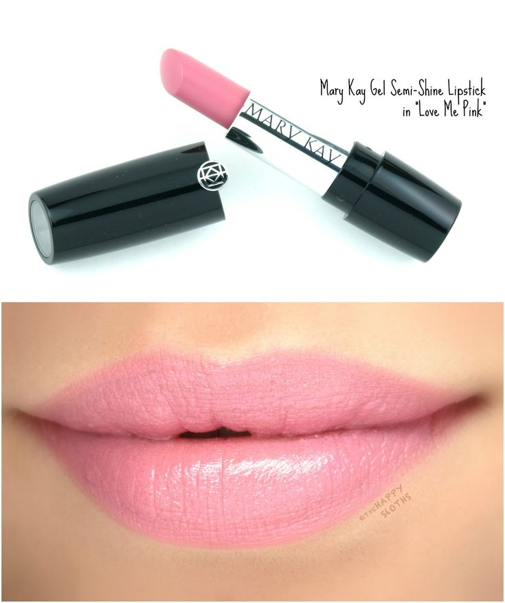 """Mary Kay Gel Semi-Shine Lipstick in """"Love Me Pink"""": Review and Swatches"""