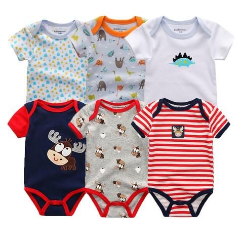 660f314ecf9b baby 6pcs lot full sleeve cotton infantis children clothing romper ...
