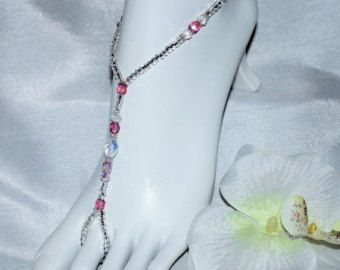 Toddler Barefoot Sandals Crystal Starfish by SubtleExpressions