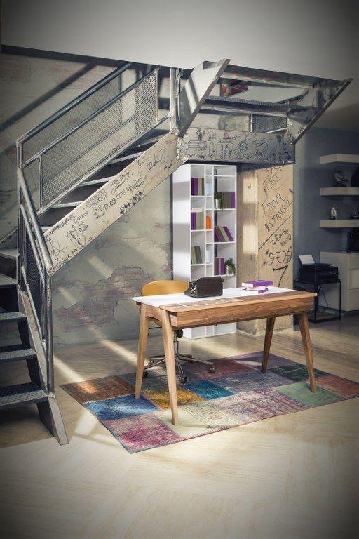 Oyo Çalışma Masası / Oyo Study Desk /  #mobilya #furniture #dekorasyon #evdekorasyonu #home #homestyle #homedesign #homedecoration #minimal #loft #modernmobilya #stil #çalışmamasası #masa #studydesk #desk #aksesuar #tamamlayici #lodamobilya
