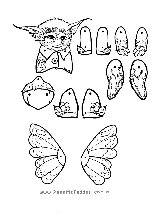 Moth Puppet Coloring Page