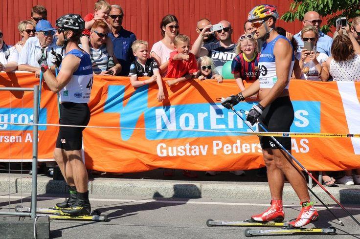 <p>FØRSTE KONKURRANSE: For denne sesongen for Petter Northug da han stilte til start under Kristiansand Skifestival.</p>