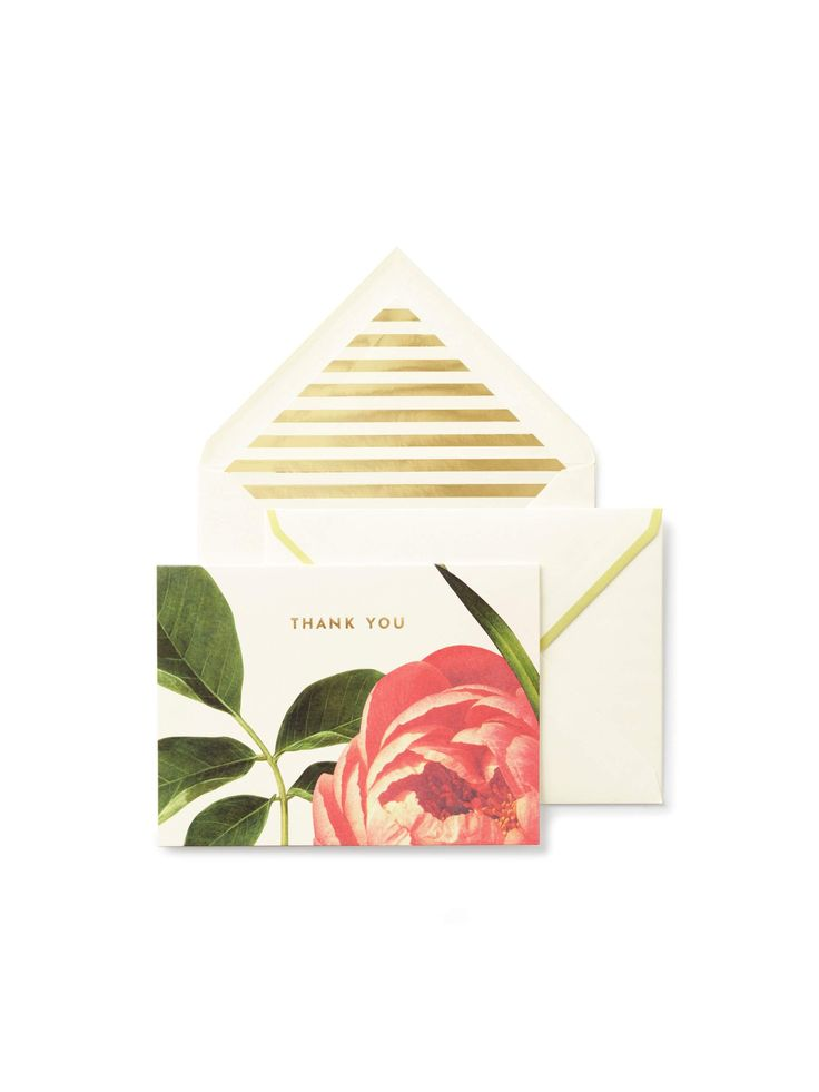 grand gestures and little acts of love call for handwritten notes on pretty stationery. this set lets you show your gratitude whether you're sending it from a continent away or just down the block.