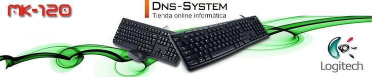 El combo más vendido Logitech MK-120, un pack de teclado con ratón estandard de la prestigiosa marca de periféricos, conexión usb y teclado numérico integrado. https://www.dns-system.es/combo-logitech-desktop-mk120-usb-p-2242.html