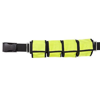 Weight Belts 74004: Scuba Eight Pocket Diving Weight Belt - Yellow BUY IT NOW ONLY: $46.95
