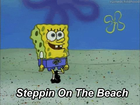 SpongeBob is great at making up little songs on the simplest things.
