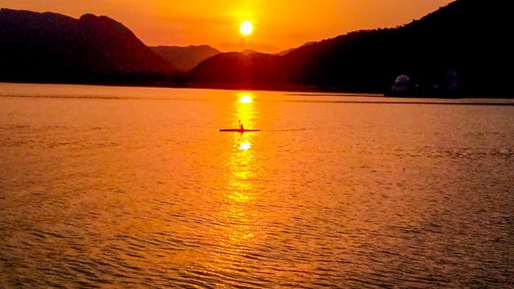 #fatehsagarlake udaipur #sunset #summer