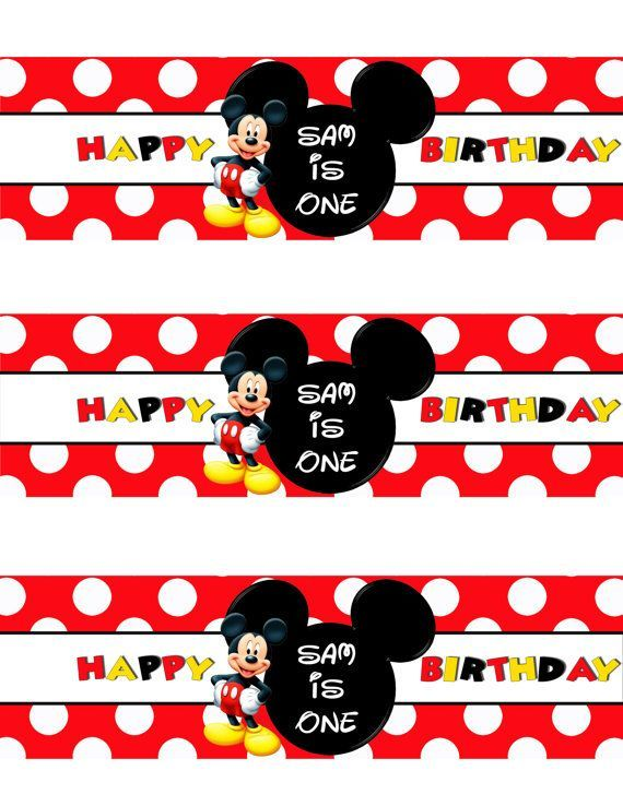 Nice Free Template Free Printable Mickey Mouse Bottle Labels