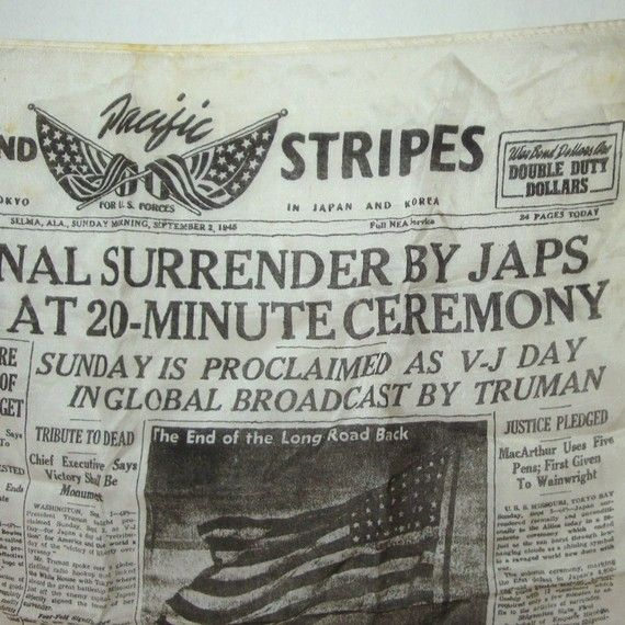 V-J Day - August 14, 1945 - Japanese Surrender