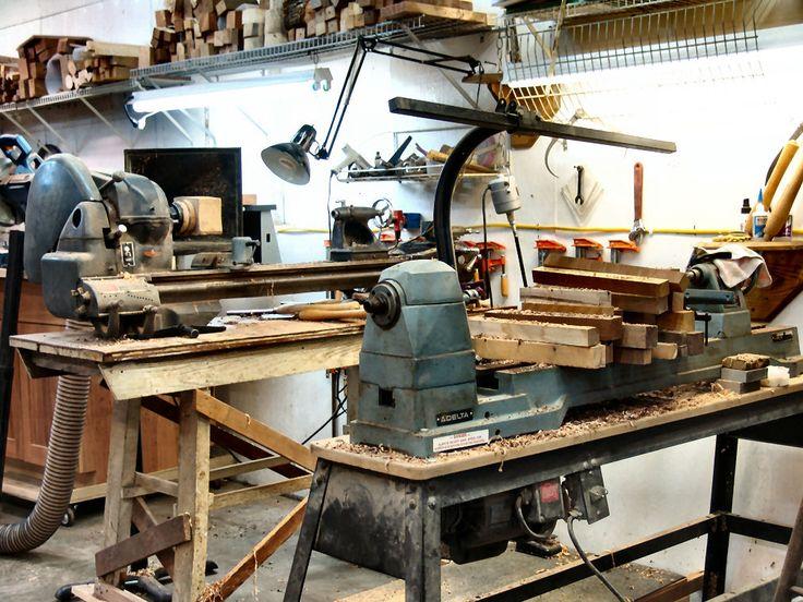 Atlas metal lathe  and delta wood lathe - The Imaginarium Forge