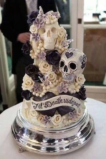 What a cool looking cake. Sugar skulls