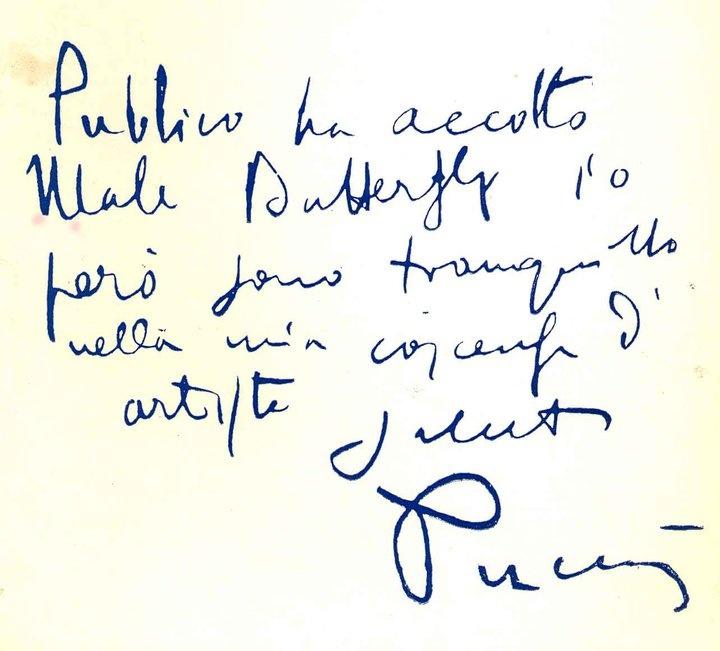 - Giacomo Puccini -