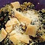 Quinoa con grana ed erbette