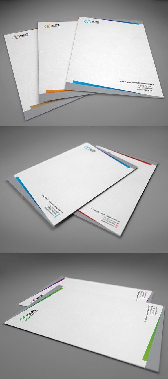 Letterhead 2 with DOCX. Stationery Templates. $6.00