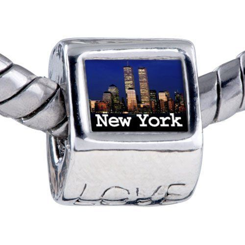 Pugster Bead Travel-New York City Photo Love European Charm Beads Fits Pandora Bracelet Pugster. $12.49. Bracelet sold separately. Hole size is approximately 4.8 to 5mm. Unthreaded European story bracelet design. It's the photo on the love charm. Fit Pandora, Biagi, and Chamilia Charm Bead Bracelets
