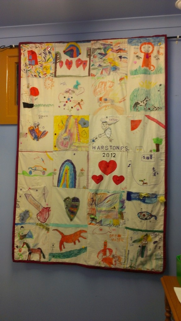 Classroom Paper Quilt Ideas ~ Our classroom quilt a great craft for the first week of