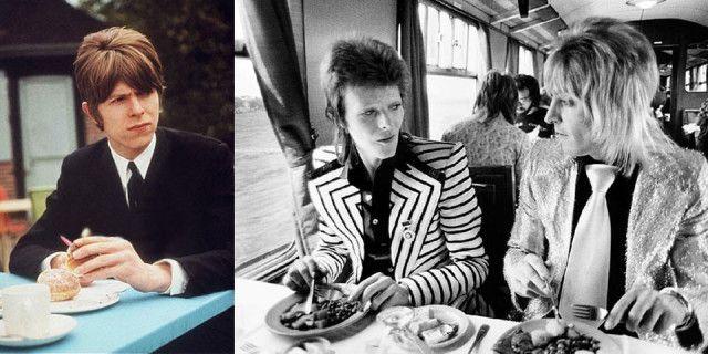 David Bowie, ci piace ricordarlo mentre mangia