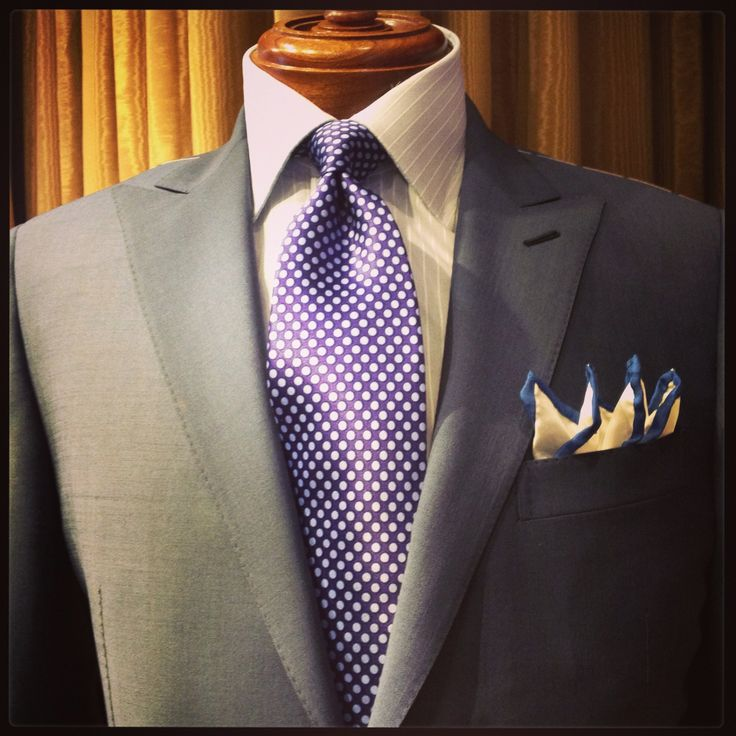 Victor Talbots Postman Blue Suit, Made in Italy