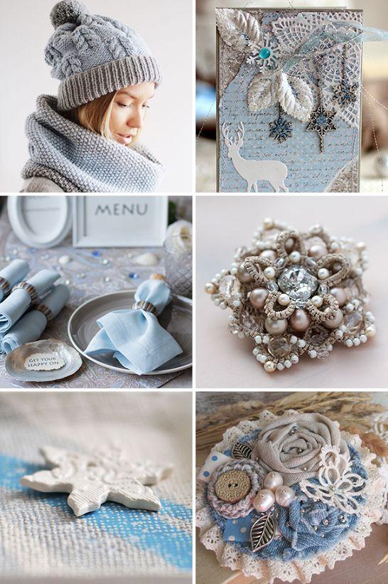 «Зимняя сказка» — коллекция предметов ручной работы  Handmade items set, see more: http://www.livemaster.ru/gallery/1335769