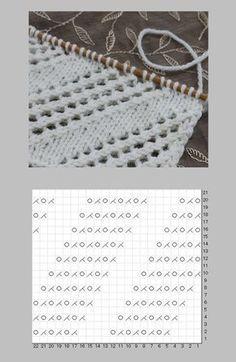 Diagonal lace Knit pattern