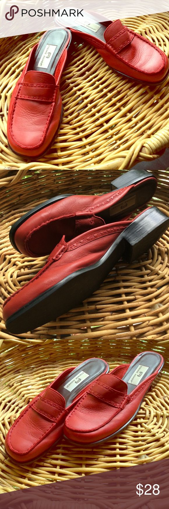 Vintage Etienne Aigner red leather shoes Vintage Etienne Aigner red leather shoes....pretty...great vintage condition! Etienne Aigner Shoes