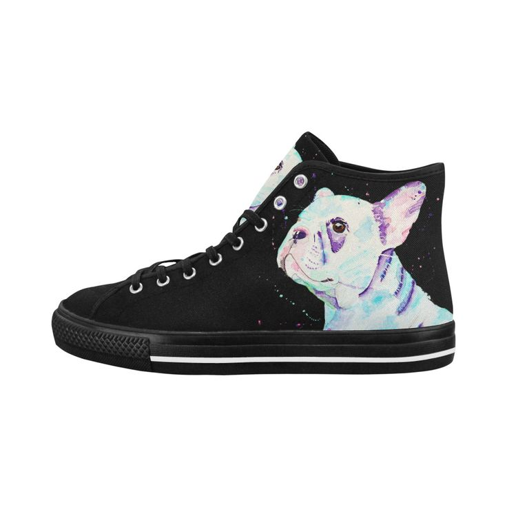 Sweetie pie - french bulldog high top women's shoes