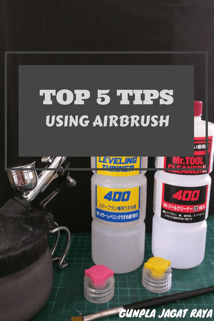 Gunpla tutorial. Gunpla techniques on  using airbrush.