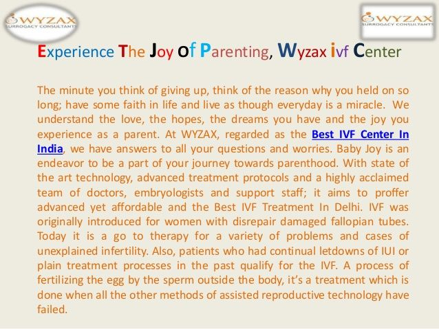 Best Surrogacy  Experience The Joy Of Parenting, Wyzax ivf Center by Wyzax Surrogacy via slideshare