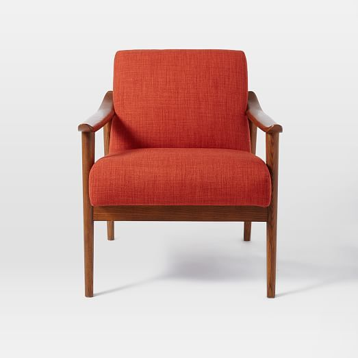 Mid-Century Show Wood Upholstered Chair #westelm