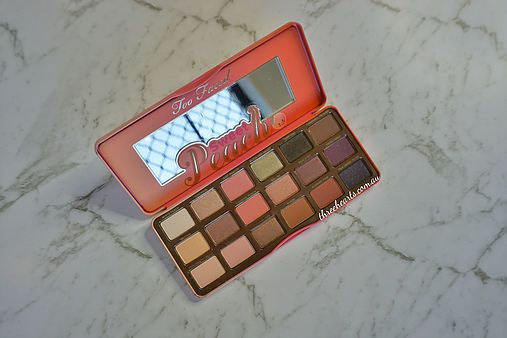 Check out Kaitlins Too Faced- Sweet Peach Palette she ordered from Mecca online! Just head on over to our ThreeHearts website to read her review on the palette.