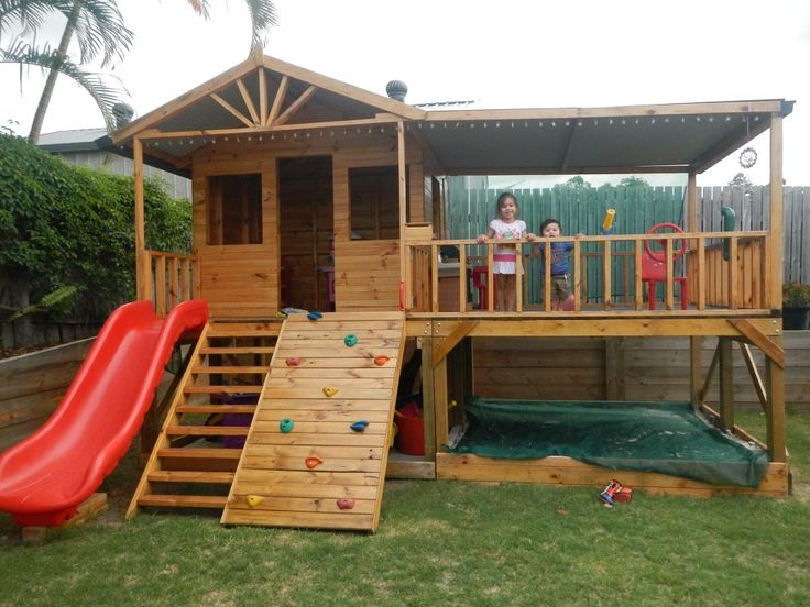 42 best images about cubby house inspiration on pinterest for Wendy house ideas inside