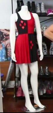 Harley Quinn reversible skater dress