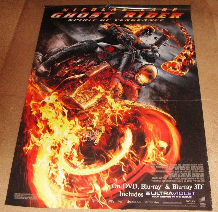 Ghost Rider Spirit of Vengeance Movie Poster 27x40 (2011) Used Vincent Regan, Idris Elba, Johnny Whitworth, Nicolas Cage, Anthony Head, Alin Panc, Violante Placido, Christopher Lambert, Ciarán Hinds, Cristian Iacob, Spencer Wilding, Jacek Koman