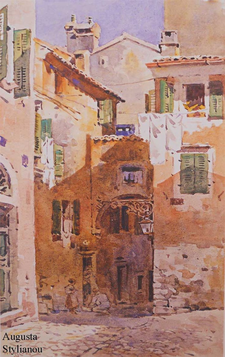 Houses in Corfu by Angelos Giallinas