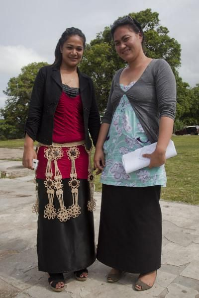 Picture of Girls posing for a shot in Nuku'alofa