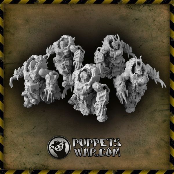 Probably one of our most disturbing sets.  Doom Rippers with claws https://puppetswar.eu/product.php?id_product=569