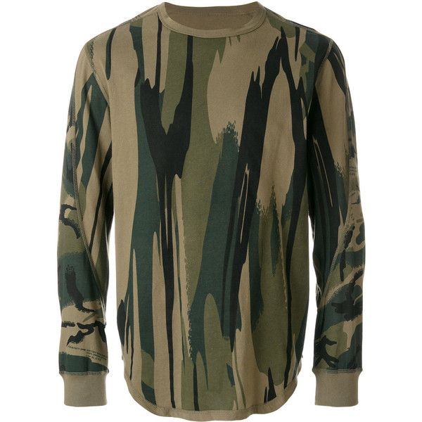 82e02f34 Maharishi camouflage print sweatshirt ($108) ❤ liked on Polyvore featuring  men's fashion, men's clothing, men's hoodies, men's sweatshirts, dad,  green, ...