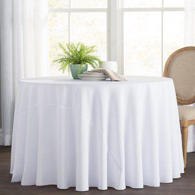 Basics Wayfair Basics Polyester Round Tablecloth Dining Table