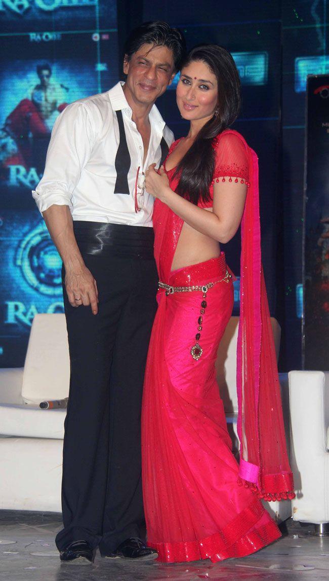 Kareena Kapoor and Shahrukh Khan at music launch for Ra One (2011)