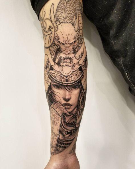 17 best girl with katana images on pinterest warriors for Female samurai tattoo
