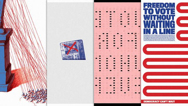 4 Powerful Posters Capture The Tenuous State Of Our Voting System  | Co.Design | business + design