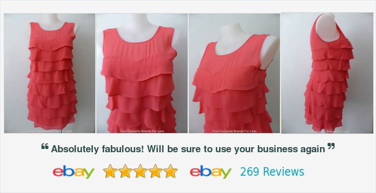 #Review #Australia Size 14 US 10 Pink Sleeveless Tiered #Dress #follow for #womens #fashion