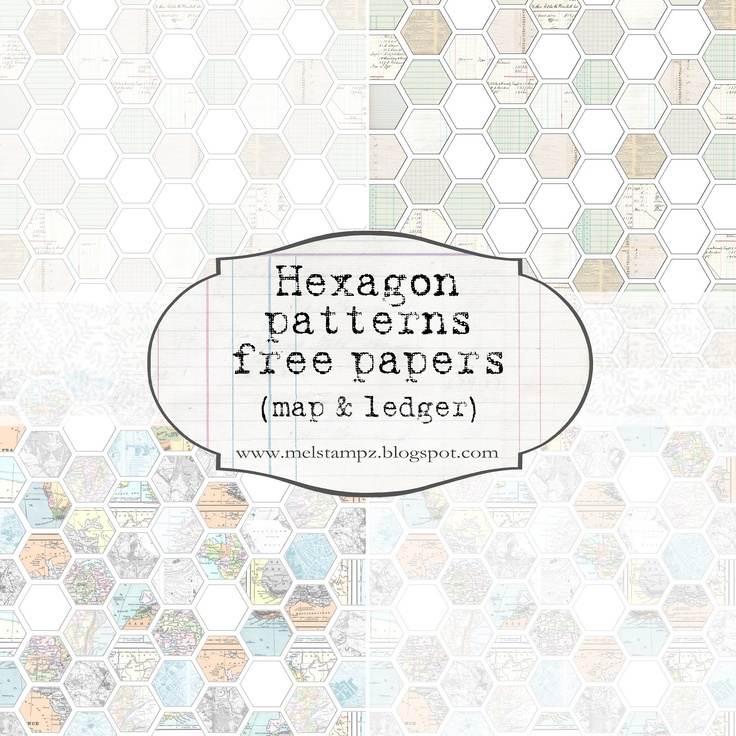 printable ledger-themed Hexagon papers - free in different sizes & formats 300dpi #highres #scrapbooking #hybrid #printables #digital #cards: Free Hexagons, Digital Cards, Hexagons Paper, Paper Freebies, Highr Scrapbook, Ledger Them Hexagons, Free Printable, Hybrid Printable, Hexagons Baby