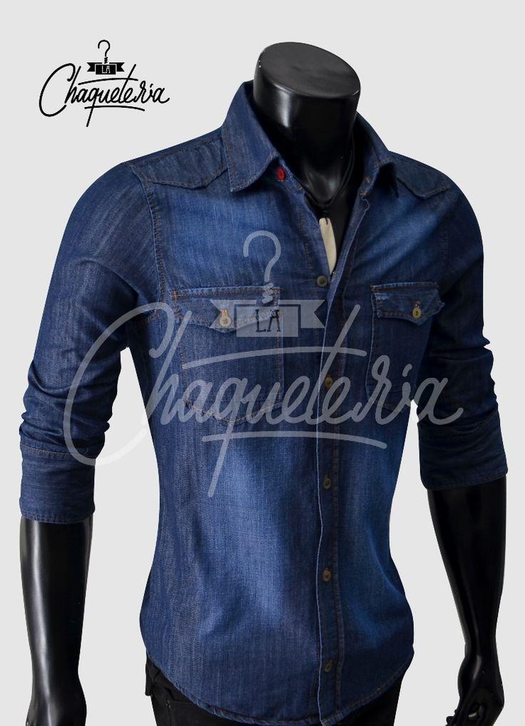 Camisa Slim fit para hombre en Jean referencia MEGAN marca La Chaqueteria  http://www.lachaqueteria.com/search/?q=megan