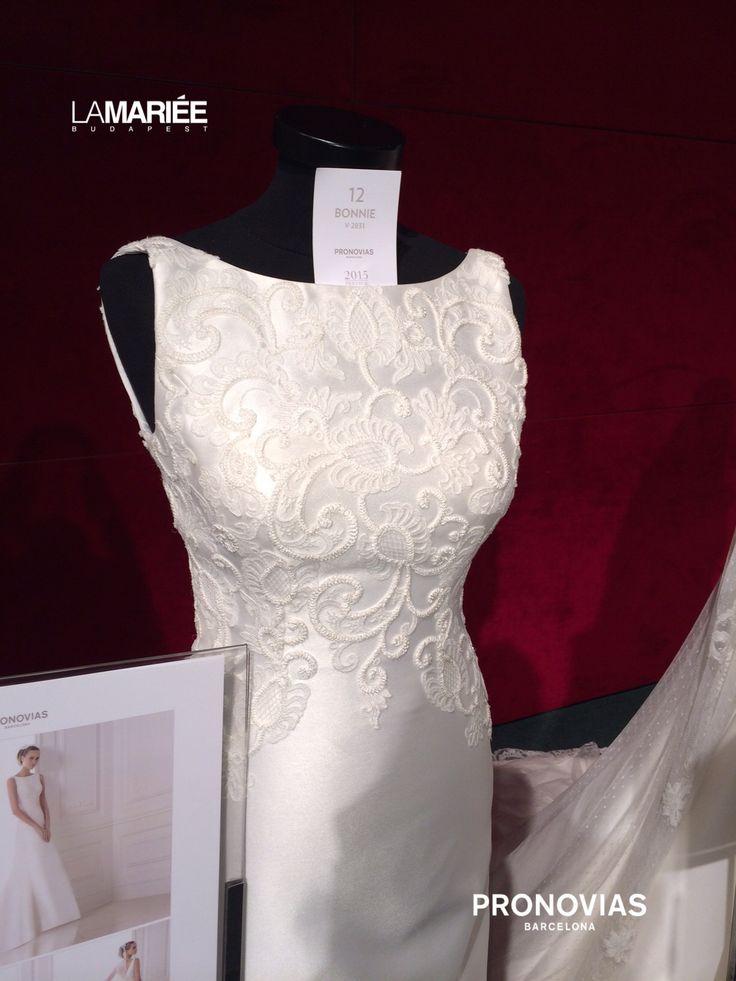 Bonnie wedding dress by 2015 Pronovias - La Mariée Budapest esküvői szalon http://lamariee.hu/eskuvoi-ruha/pronovias/bonnie