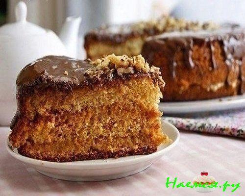 Легкий рецепт медового бисквита