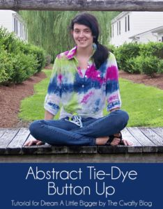 DIY Tie Dye Projects and Crafts - Abstract Tie Dye Button Up - Cool Tie Dye Ideas for Shirts, Socks, Paint, Sheets, Sharpie, Food and Recipes, Bags, Tshirt and Shoes - Fun Projects and Gifts for Adults, Teens and Teenagers http://diyprojectsforteens.com/diy-tie-dye-ideas