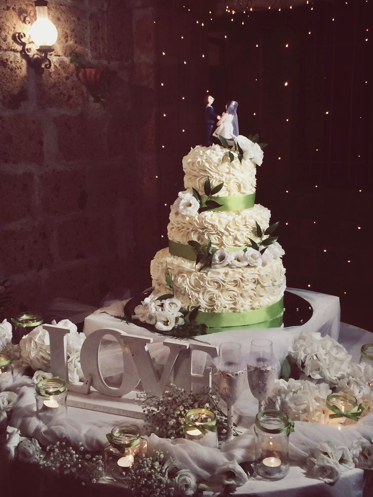 Wedding Cake @Zia Cathy's Country House & Location - Summer 2014 https://www.facebook.com/ZiaCathys