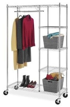 Rolling Garment Shelves Rack - Traditional - Laundry Products - BuilderDepot, Inc.